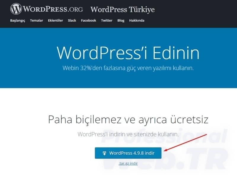wordpress nereden indirilir